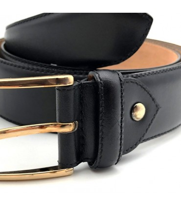 Leather belt FLINT - Black